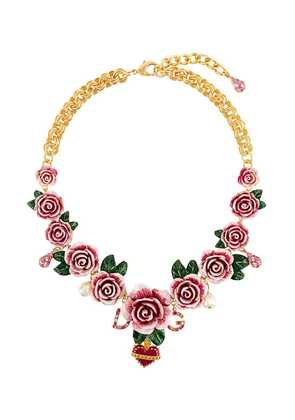 Dolce & Gabbana rose-embellished necklace - Pink