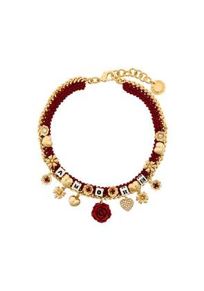 Dolce & Gabbana Amore woven necklace - Red