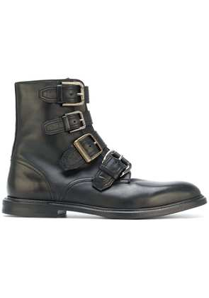 Dolce & Gabbana buckle strap ankle boots - Black