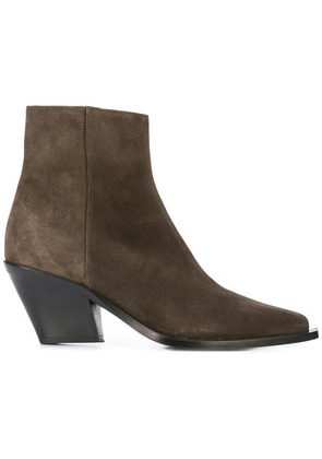 Barbara Bui chunky heel boots - Brown