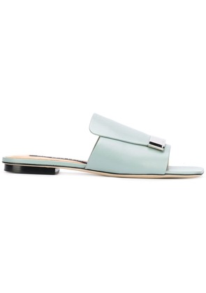 Sergio Rossi engraved buckle sandals - Green