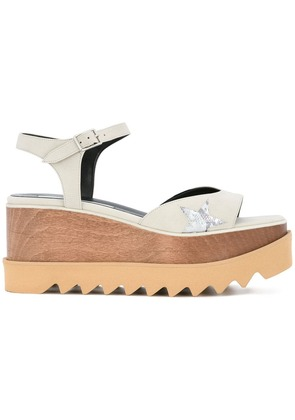 Stella McCartney Elyse star sandals - White