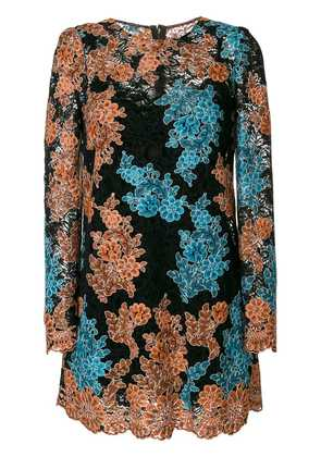 Dolce & Gabbana floral crochet shift dress - Black