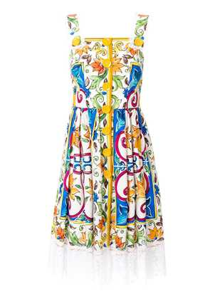 Dolce & Gabbana printed poplin apron dress - Multicolour