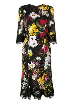 Dolce & Gabbana lace detail floral dress - Multicolour
