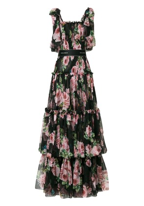 Dolce & Gabbana tiered floral dress - Black