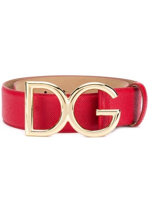 Dolce & Gabbana DG leather belt - Red