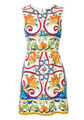 Dolce & Gabbana Abito tile print dress - Multicolour
