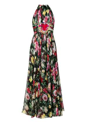 Dolce & Gabbana pleated halterneck dress - Multicolour