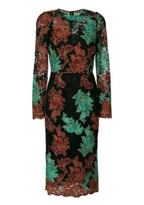 Dolce & Gabbana embroidered lace dress - Multicolour