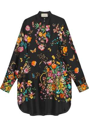 Gucci Silk dress with flowers - Black