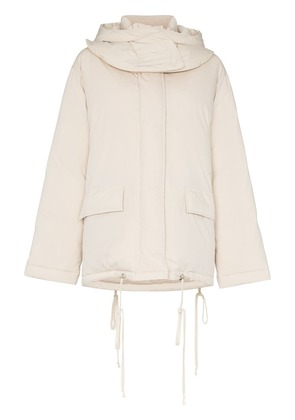 Helmut Lang HLMT LS COAT PUFR W FRNT POCKETS AND PAD - Neutrals