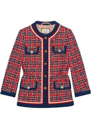 Gucci Tweed check jacket - Red