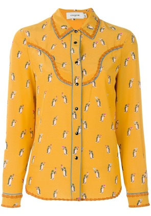 Coach penguin print blouse - Yellow