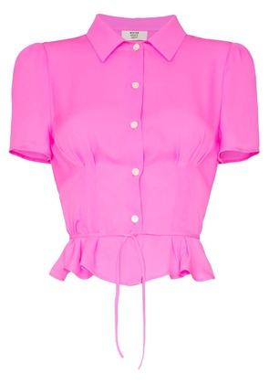 Maryam Nassir Zadeh silk button down tie back blouse - Pink
