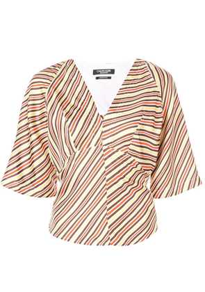 Calvin Klein 205W39nyc striped back tie blouse - Multicolour
