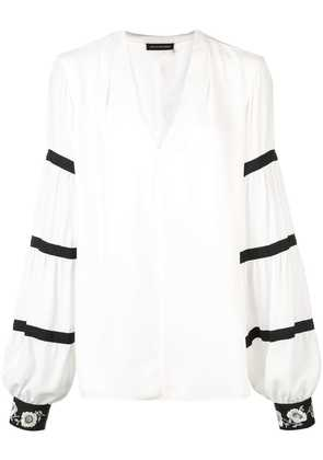 Natori v-neck blouse - White