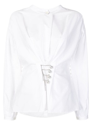 3.1 Phillip Lim pearl detail shirt - White