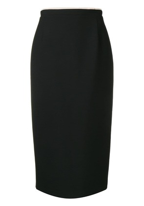 No21 panelled structure pencil skirt - Black