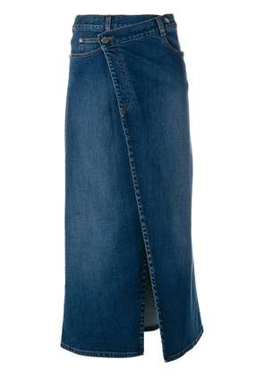 Stella McCartney denim wrap midi skirt - Blue