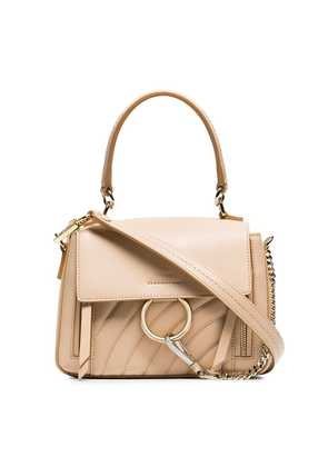 Chloé pink faye day mini quilted leather shoulder bag - Neutrals