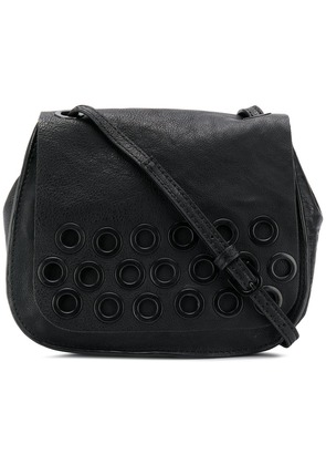 Cotélac eyelet detailed crossbody bag - Black