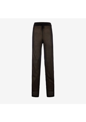 Bally Viscose Knitted Trousers Black, Women's viscose trousers in black
