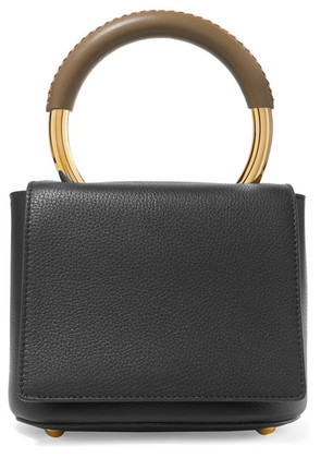 Marni - Pannier Textured-leather Tote - Black