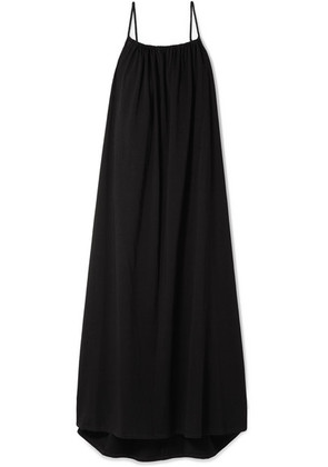 The Row - Dresia Cotton-jersey Maxi Dress - Black