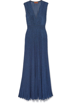 Missoni - Pleated Lurex Maxi Dress - Blue