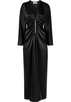 Racil - Rita Crystal-embellished Satin Maxi Dress - Black