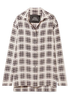Marc Jacobs - Checked Washed-silk Shirt - White