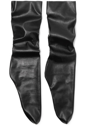 Pan & The Dream - Faux Leather Socks - Black