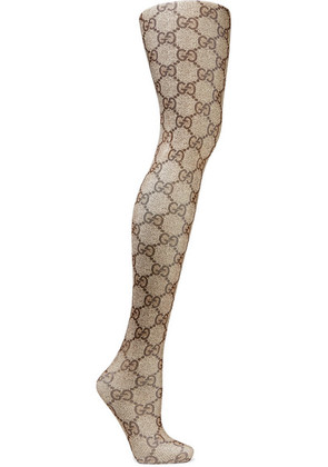 Gucci - Intarsia Tights - Brown
