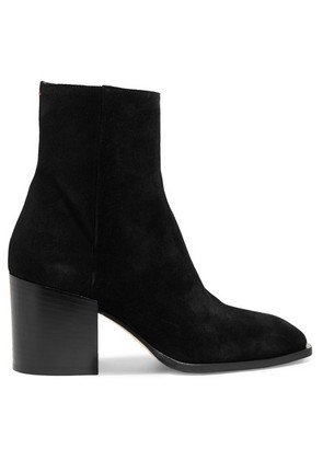 aeyde - Leandra Suede Ankle Boots - Black