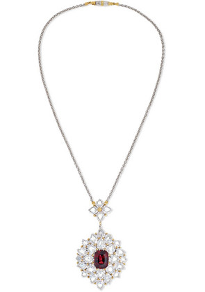 Buccellati - 18-karat White And Yellow Gold, Diamond And Ruby Necklace - one size
