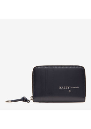 Bally Bivy Blue, Men's calf leather coin wallet in ink