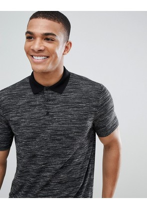 ASOS DESIGN polo shirt with inject fabric in grey - Grey