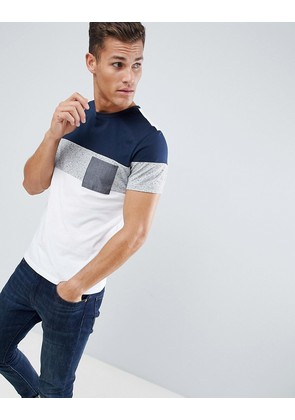 ASOS DESIGN t-shirt with pocket in nepp fabric - White