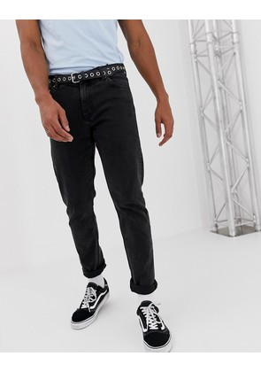 Weekday sunday tapered jeans tuned black - Black
