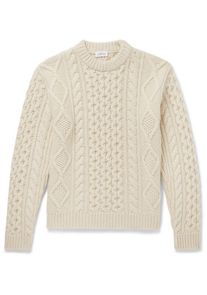 Brioni - Cable-knit Camel Hair Sweater - Cream