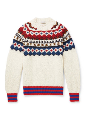 Moncler - Fair Isle Wool-blend Sweater - Off-white