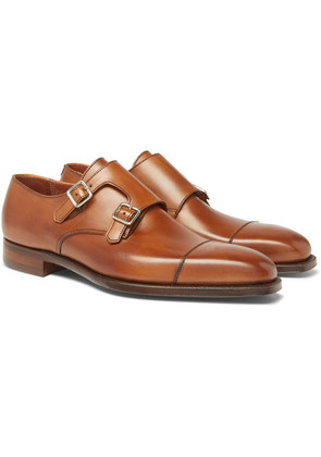 George Cleverley - Thomas Leather Monk-strap Shoes - Brown