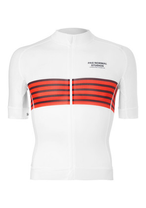 Pas Normal Studios - Solitude Zip-up Cycling Jersey - White
