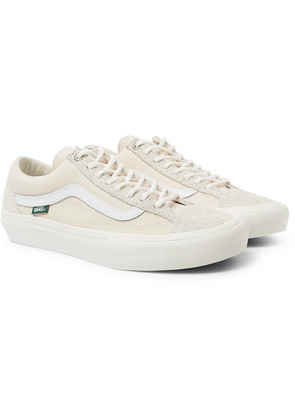 Vans - + Pop Trading Company Style 36 Pro Suede And Nylon Sneakers - Cream