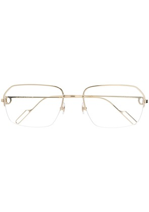 Cartier metallic frame glasses - Gold