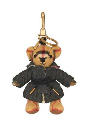Burberry Thomas Bear Charm in Quilted Jacket - Neutrals