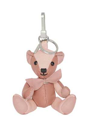 Burberry Thomas Bear Charm in Leather - Pink