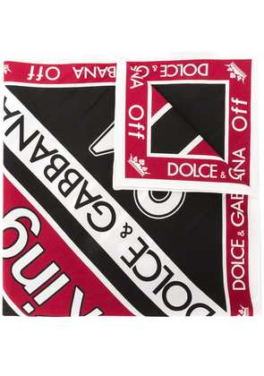 Dolce & Gabbana King print scarf - Red