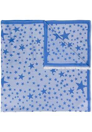 Stella McCartney star print scarf - Blue